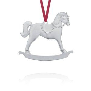 Pewter Tree Ornament - Rocking Horse